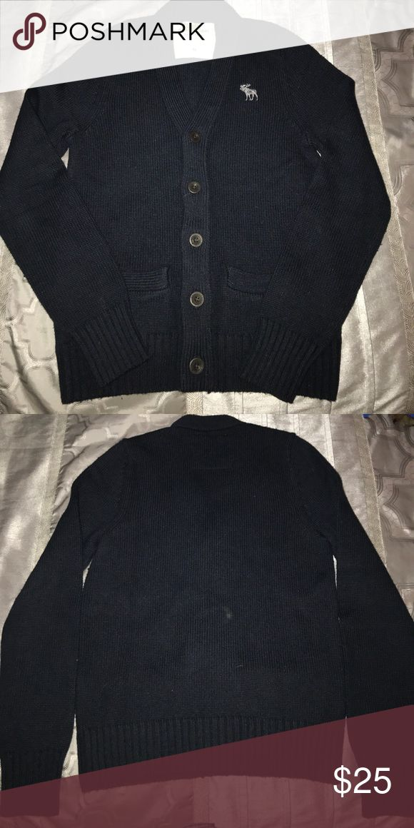 Abercrombie men's sweater Navy men's Abercrombie sweater gently worn.  Wool nylon Abercrombie & Fitch Sweaters Cardigan