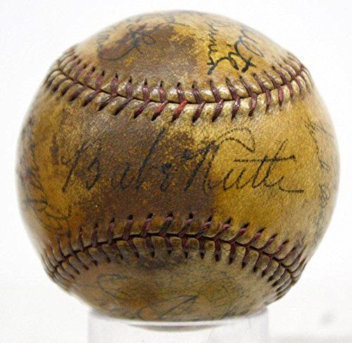 Babe Ruth Autographed Baseball - 1932 Gehrig Dickey V02841 - PSA/DNA Certified - Autographed Baseballs *** You can find more details by visiting the image link.