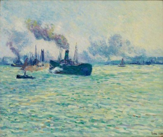 Le port de Rotterdam - Maximilien Luce 1907 French 1858-1941