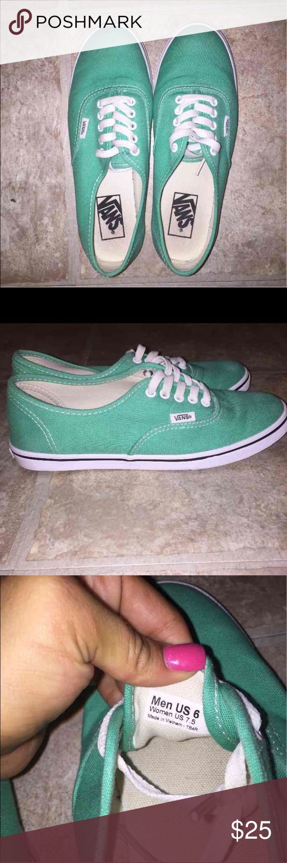 Teal Vans Great Condition! Like New! Vans Shoes