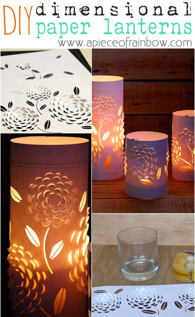 These beautiful Dimensional Paper Lanterns are made with 3 things EVERYONE has! FREE template to make for your home, party or even wedding decor!