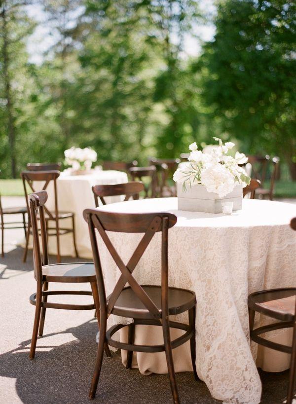lace linens | Chris Isham #wedding