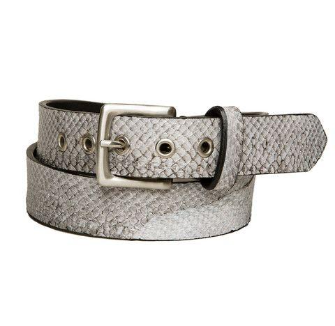 Salmon fish leather belt 35 mm