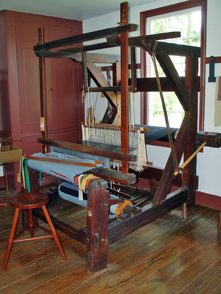 Textiles used by the Shakers at Pleasant Hill, Kentucky - Travel Photos by Galen R Frysinger, Sheboygan, Wisconsin