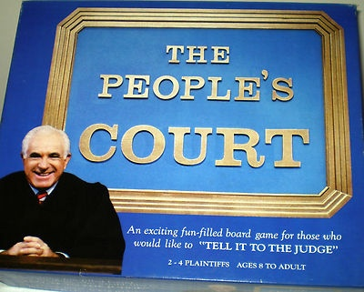 Judge Wapner The People's Court Vintage Board Game Complete | eBay