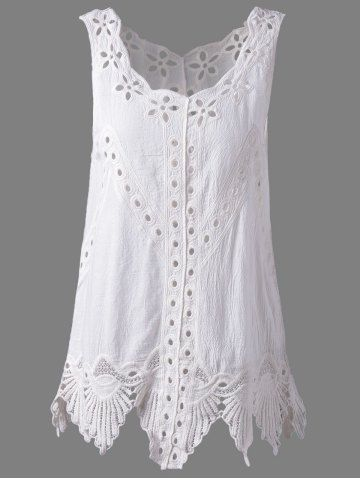 SHARE & Get it FREE   Bohemian Scoop Neck Crochet Sleeveless Solid Color Blouse For WomenFor Fashion Lovers only:80,000+ Items • New Arrivals Daily • FREE SHIPPING Affordable Casual to Chic for Every Occasion Join RoseGal: Get YOUR $50 NOW!