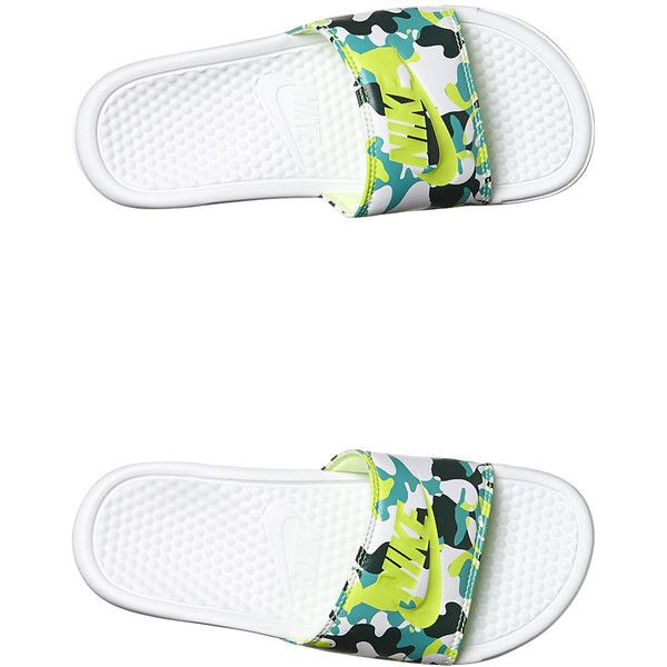 18bea4f7c ... ireland nike benassi jdi print womens slide 24 liked on polyvore  featuring shoes sandals white green