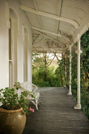 Verandah Veiled by rambling greenery, the deep verandah is the place to escape the heat of the day.
