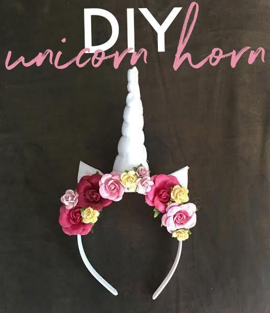 DIY Unicorn horn headband tutorial with materials from Michaels