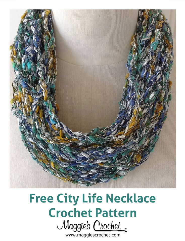 Free Crochet Heart Necklace Pattern : City Life Necklace Free Crochet Pattern from Maggies ...