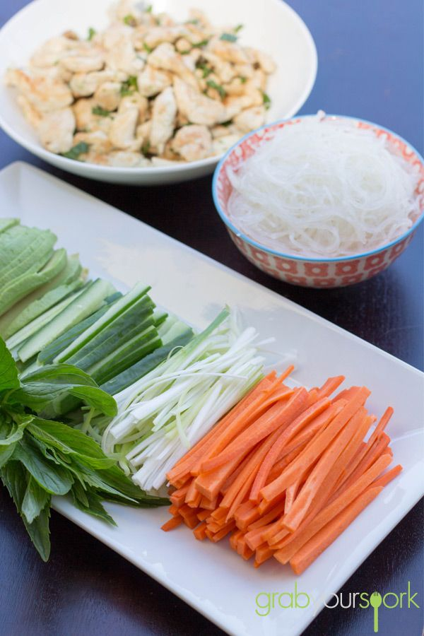 Vietnamese Rice Paper Rolls | Chicken | Recipes | Grab Your Spork