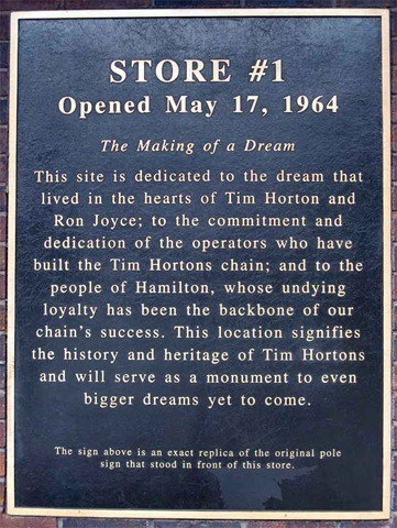 Tim Horton's Store #1 opened May 17, 1964 here in Hamilton Ontario!