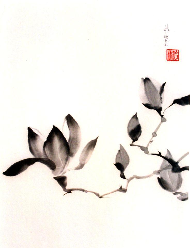 ♂ Asian ink art Korean watercolor