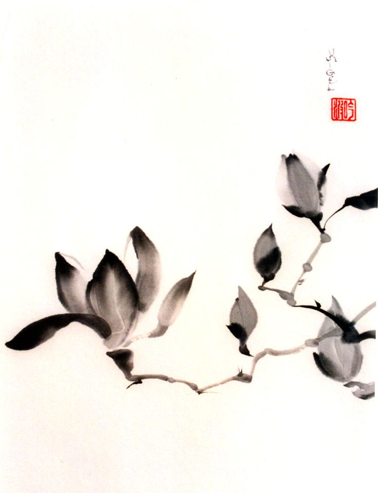 ♂ Asian ink art Korean watercolor