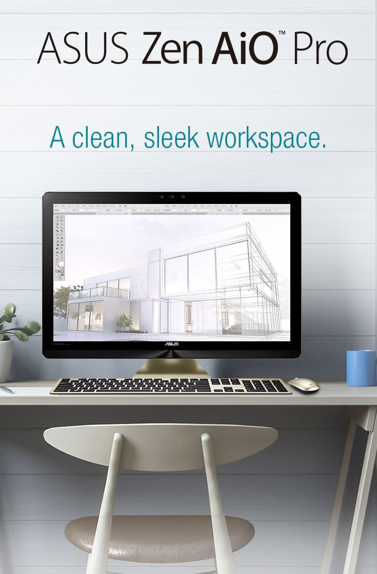 Buh-bye bulky technology, and hello  Zen AiO Pro – bringing out your inner neat freak.   Zen AIO Pro