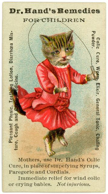 Dr. Hand's Remedies for Children advertising card (19th century)