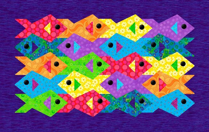 Paper pieced quilts, Fish and Quilt on Pinterest