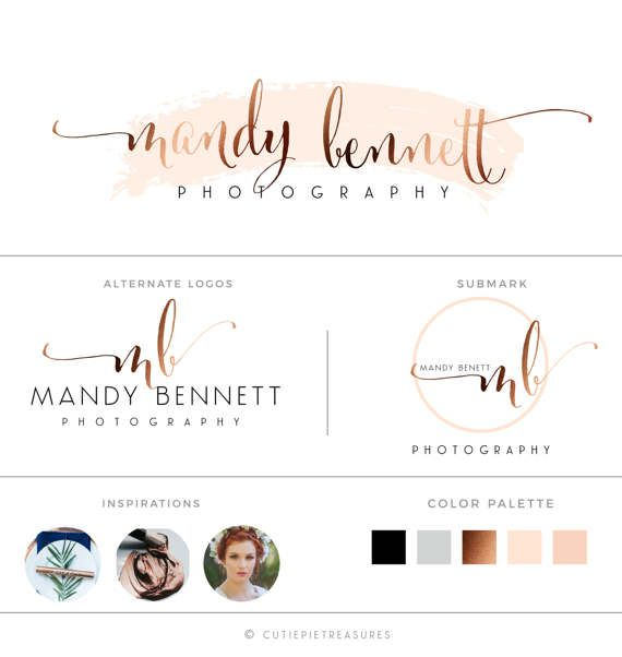 Signature logo handwritten premade logo by CutiexoTreasures