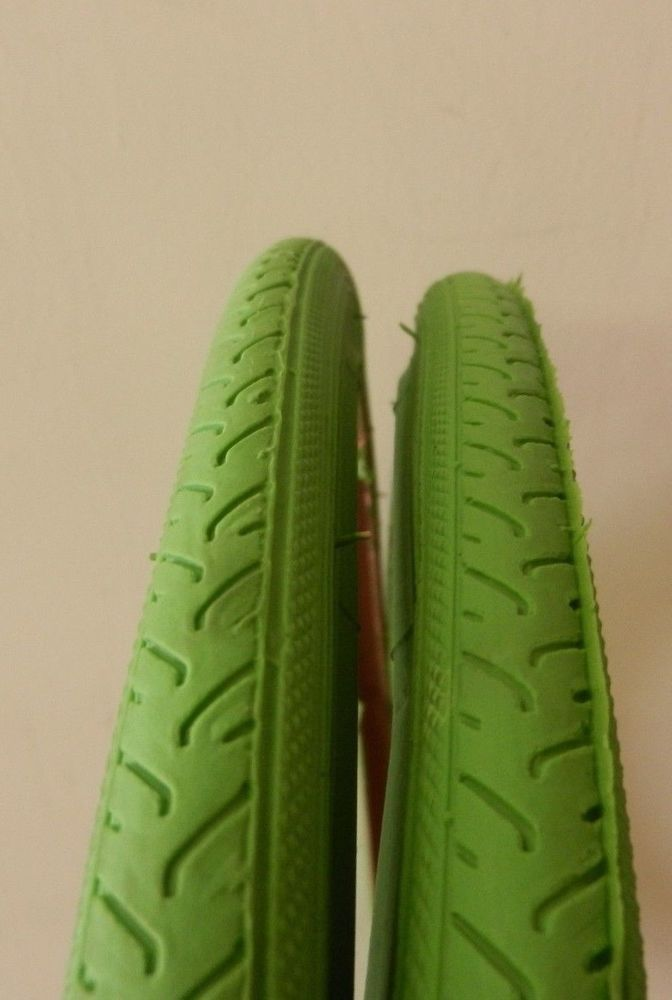 Two New Bicycle Road Tires Green Duro 700 x 25c ISO 25 622 Tubes and Rim Strips | eBay