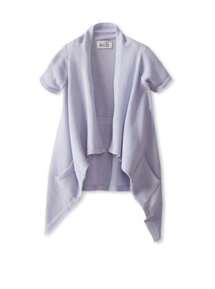 56% OFF Autumn Cashmere Girl's Short Sleeve Cinched Back Swancho (Lavender)