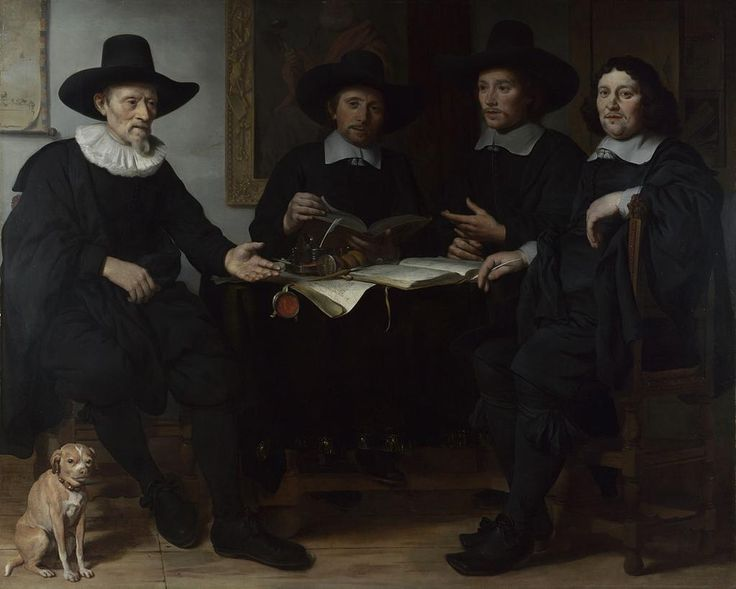 This type of portrait, showing the officials of a guild, was very popular in the Netherlands during the 17th century.