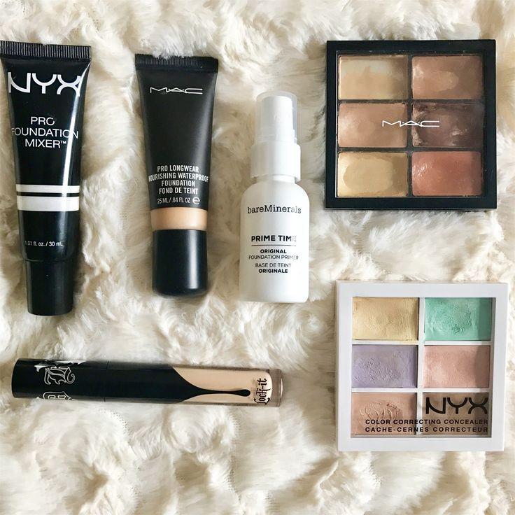 Correctores MAC ,Nyx, kat von d, pro mixer foundation nyx, mac base líquida y primer bare minerals, todo pata mejorar la apariencia de la piel