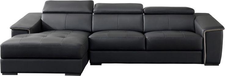 Canapé angle gauche SPIRIT Noir BUT