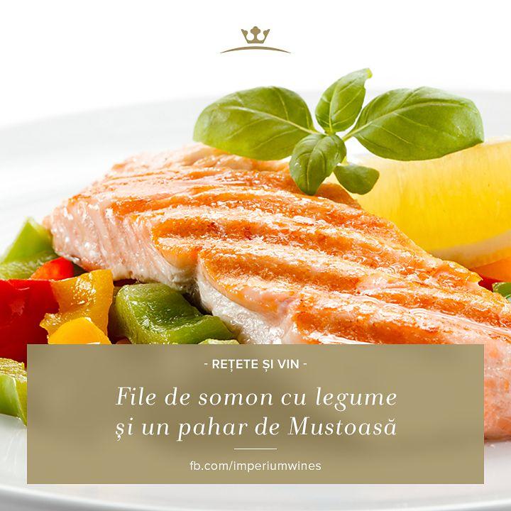 O rețetă perfectă pentru o cină de vară - file de somon și un vin alb rece: http://marelliwines.ro/imperium-wines---mustoasa-de-maderat/49.htm