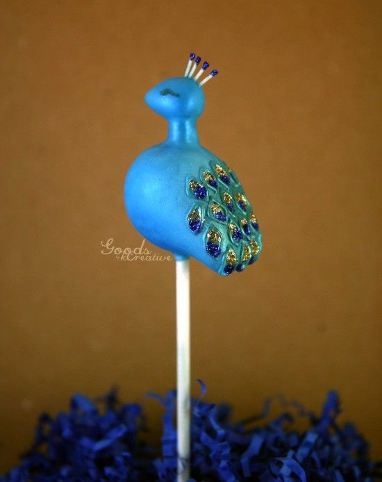 Peacock Cake Pops : Goods by kCreative