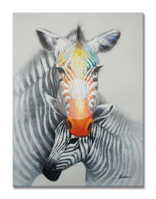 Zebra Embrace Oil Canvas 120cm x 90cm