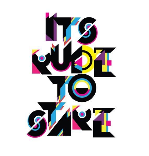 Type by Andrei Robu (via The Audacity of Color) #AndreiRobu #type