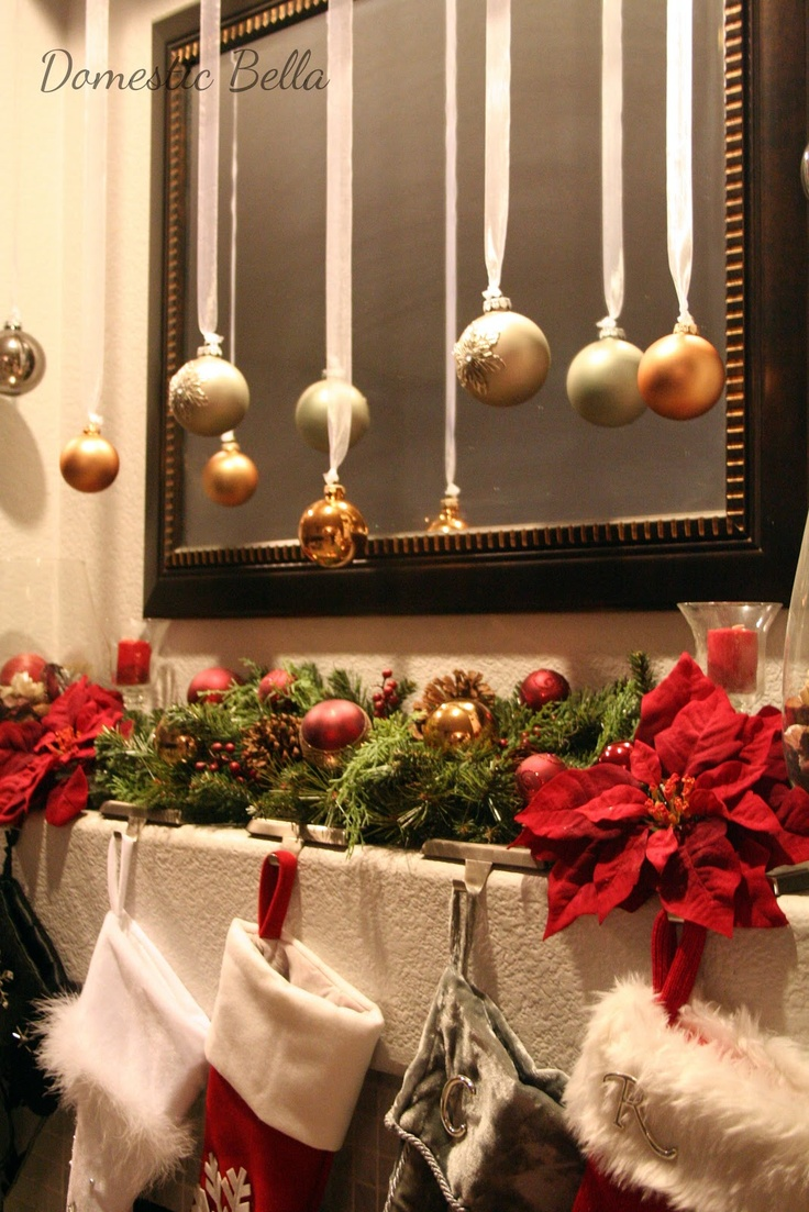 Change the colors to match that years:   Red, Silver, Gold  Silver, White, Red Silver, turquoise, ....decorated Christmas mantel