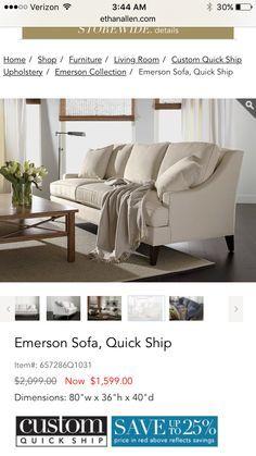Emerson sofa- Ethan Allen