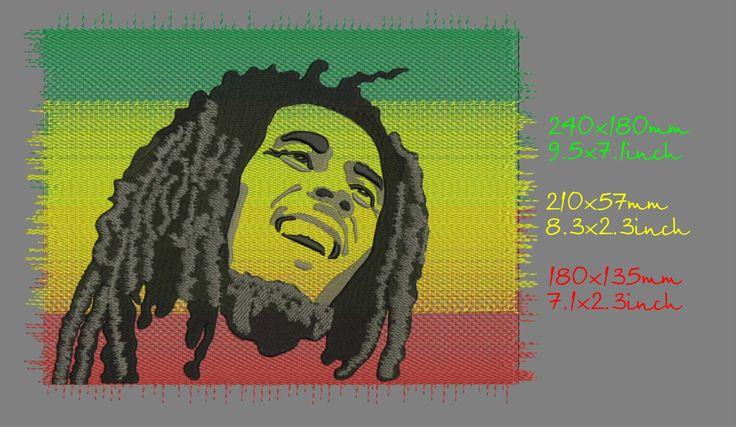 Боб Марли, дизайн машинной вышивки, три размера, моментальное скачивание by Tamarladesign on Etsy