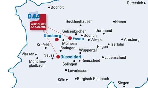 Die DAA jetzt in Düsseldorf, Essen und Duisburg!