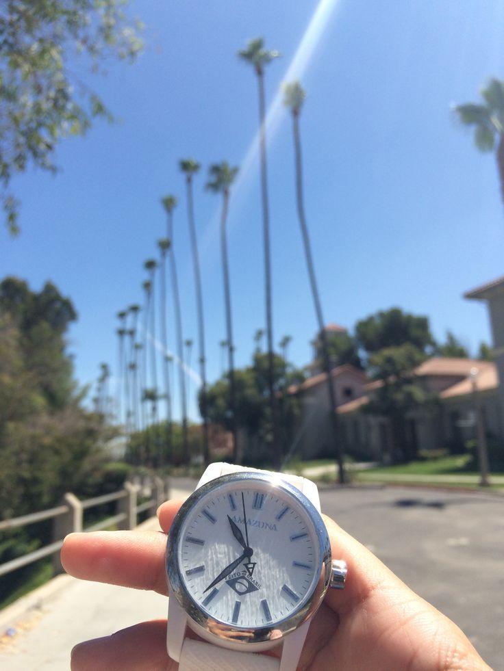 Amazuna is #madefortheworld - today in sunny California, where will we be tomorrow?  Luxury Brazilian Fashion Watches in California.
