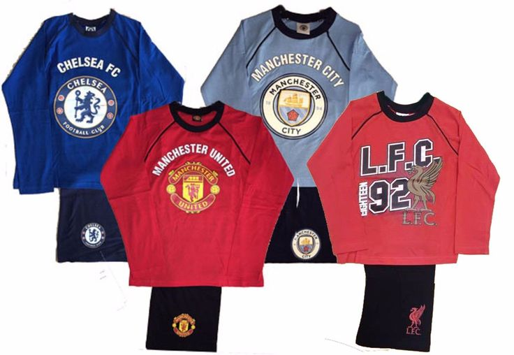 #Boy's pyjamas football footy #manchester united city #chelsea team pjs gift set ,  View more on the LINK: http://www.zeppy.io/product/gb/2/142131977455/