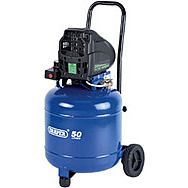Draper 05644 50l 230v 1.1kw Oil-free Vertical Air Compressor