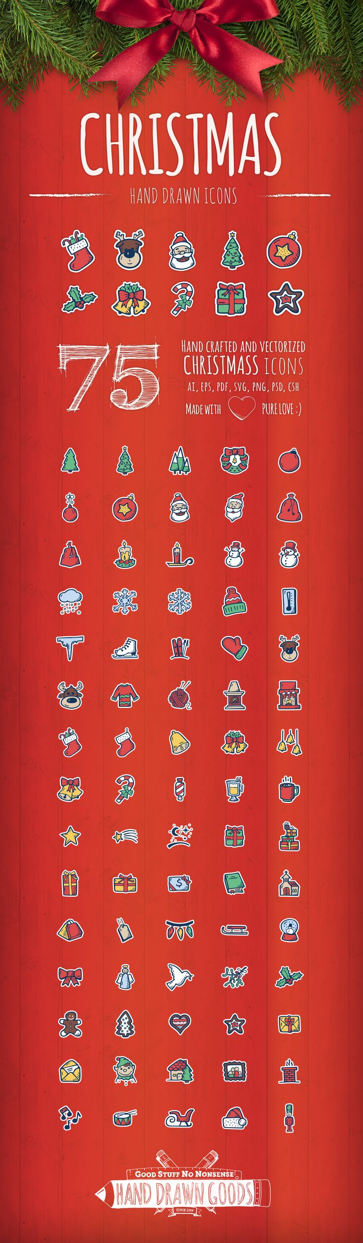 Christmas - Hand Drawn Icons on Behance
