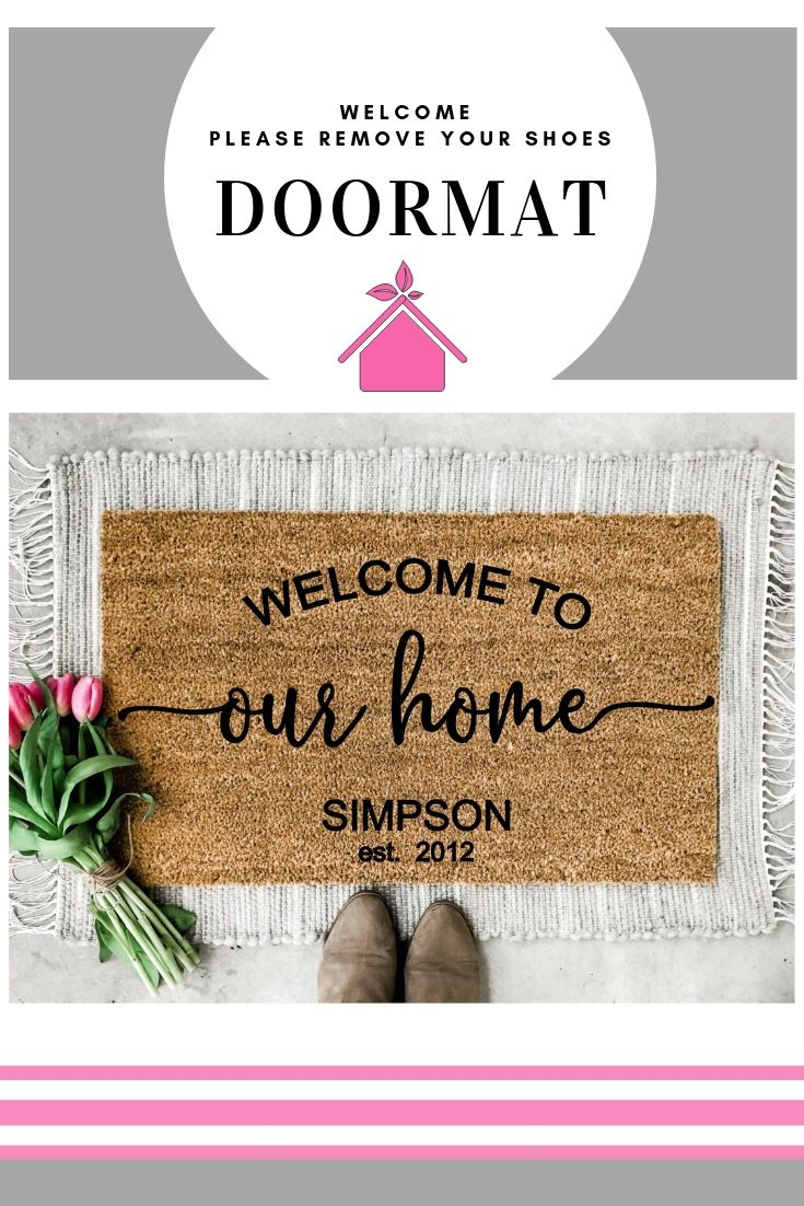 Welcome To Our Home Doormat Welcome Doormat Personalized Etsy
