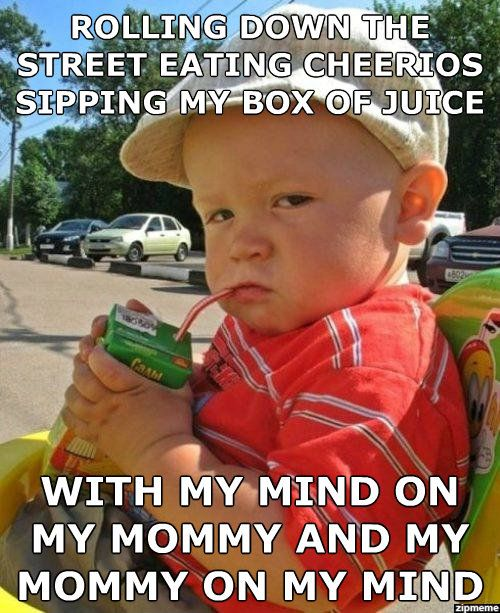sipping on my box of juice.