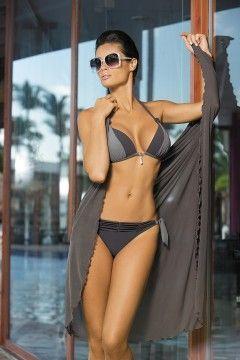 Kostium kąpielowy Amber Fuliggine-Wall M-260 Popielato-szary (46)
