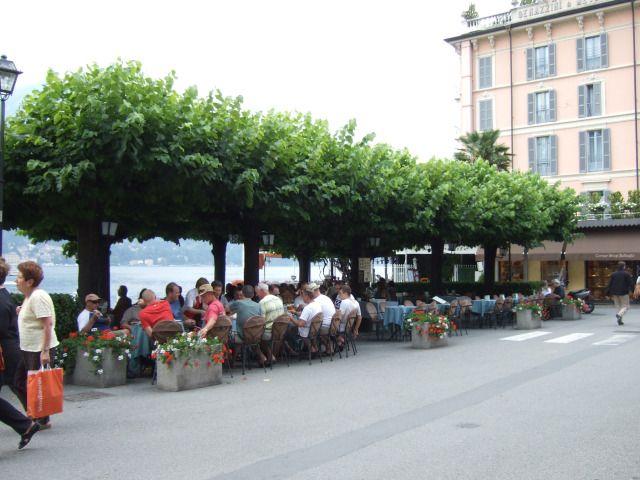 Outdoor restaurant in Bellagio,Italy on  Lake Como