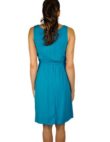 Blue Maternity Dress Ready For Accessories