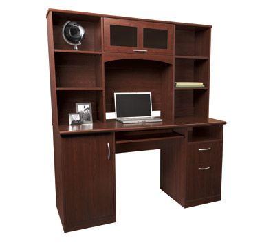 Landon Desk With Hutch Cherry