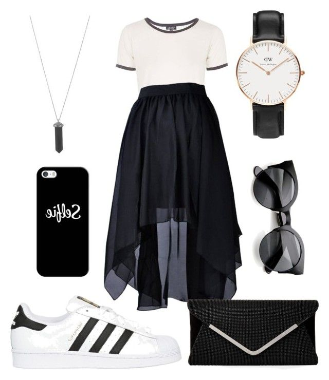 Accettazione #27 by relitalestaria on Polyvore featuring polyvore, fashion, style, Topshop, adidas Originals, Daniel Wellington, Karen Kane and Casetify