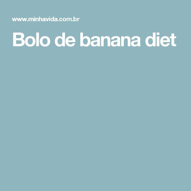 Bolo de banana diet