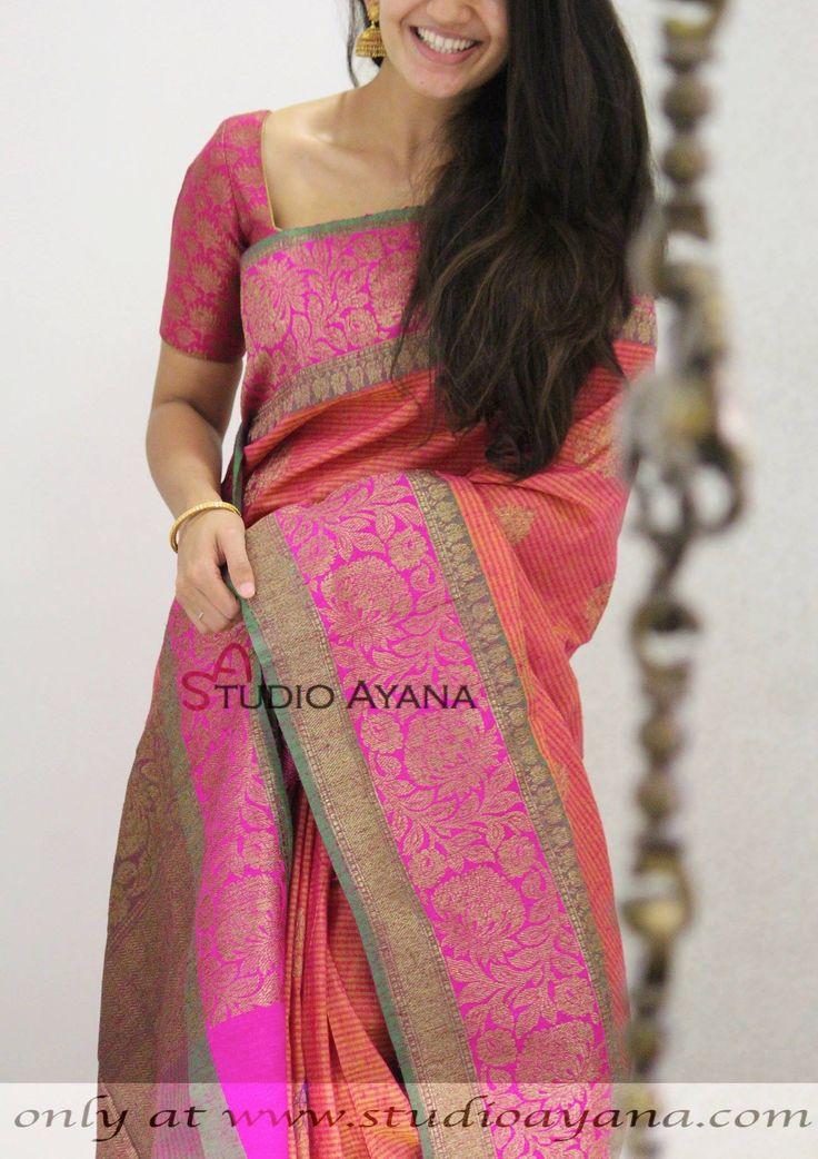 Designer Banarasi Silk Sarees 12