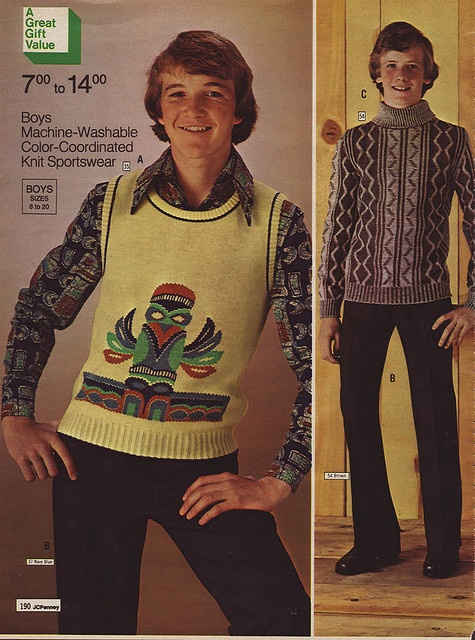 Groovy vest.  Looks like he knows where the smoking area is.