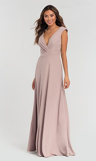 2f2b0de628 Long Kleinfeld Bridesmaid Dress with Ruched Bodice  Limited ...